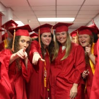 Rossview High School celebrated its 15th commencement ceremony Saturday evening. Around 360 seniors filled the Dunn Center in their bright red gowns ready to walk across the stage and receive their diplomas.