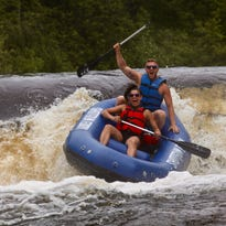 Whitewater rafting on the Wolf River is a wild thrill