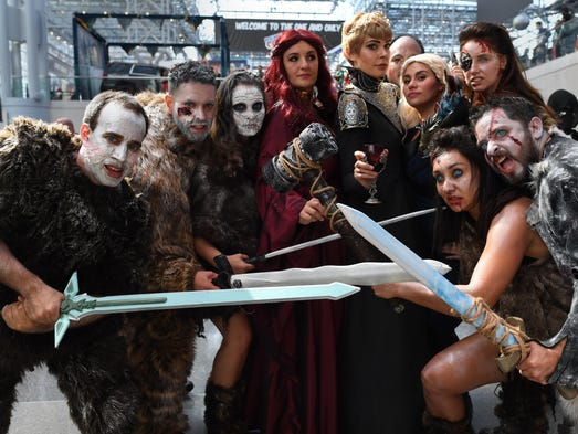 Comic Con fans dressed up as 'Game of Thrones' characters