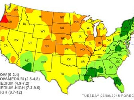 Ore Worst State In US For Allergy Sufferers Right Now - Best place in us for allergies map