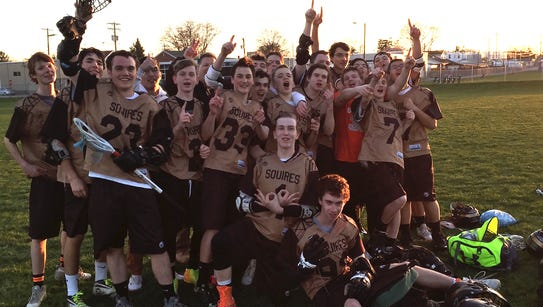 The Delone Catholic boys' lacrosse team following its