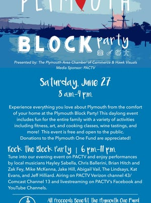 The Plymouth Area Chamber of Commerce and Hawk Visuals are presenting a virtual Block Party this Saturday, June 27.