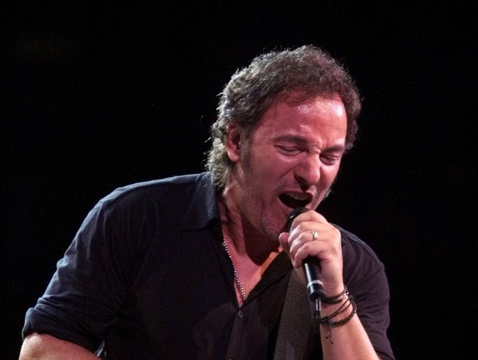 1999: Bruce Springsteen at Continental Airlines Arena.
