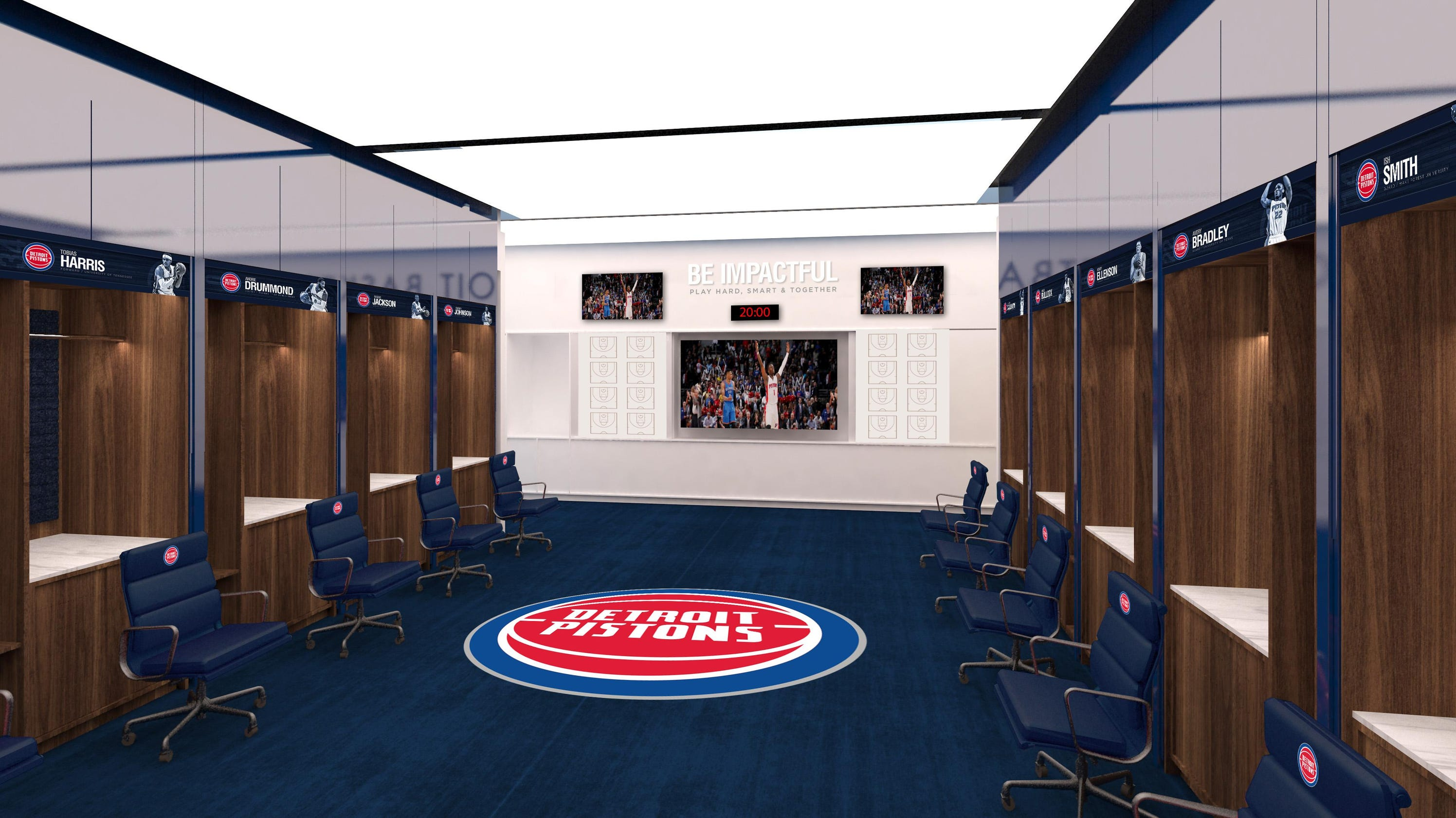 Pistons new LCA locker room one of NBAs largest