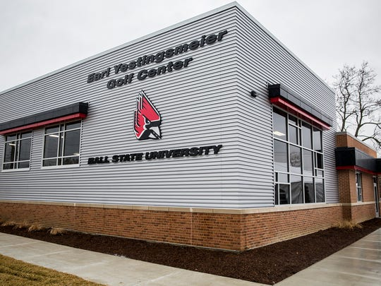 FILE -- Ball State's Earl Yestingsmeier Golf Center has played a part in the development of its men's and women's golf teams since it opened in 2018.