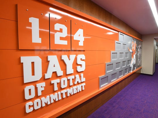Clemson's new Allen N. Reeves Football Complex on Tuesday, January 31, 2017.