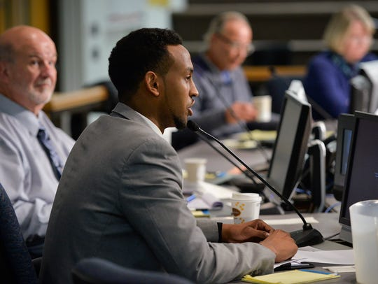 City Council candidate Abdi Daisane introduces himself