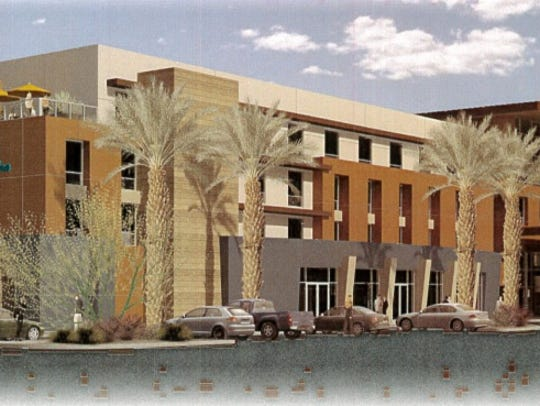 A rendering for an Indio hotel from CIIF Hotel Group,