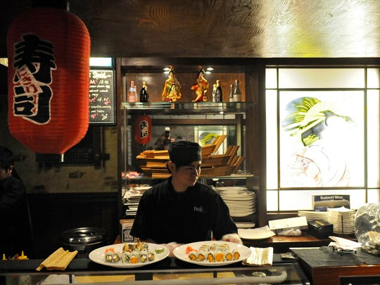 Sushi is ready to be delivered to customers at Fuji Steakhouse in Waite Park.