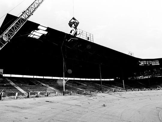 Demolition of Nashville's world-famous baseball park,