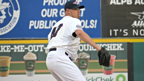 Jeremy Horst struggled with fastball command at times, but still allowed just one run in five innings of work on Friday (Photo: Mike Ashmore)