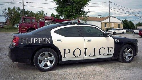 Flippin Police car