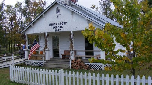 """The Shady Grove School at Rapp's Barren Settlement in Cooper Park will be one of multiple sites during the """"Passport to History Progressive Tour"""" for Baxter County History Day."""