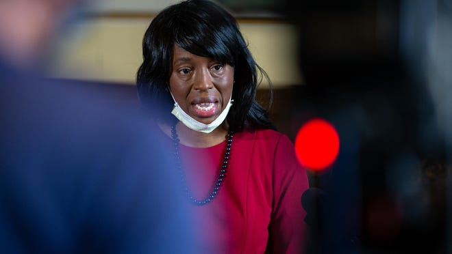 Dr. Ngozi Ezike, pictured in May, made an emotional plea Friday for Illinois residents to take precautions to protect them from the coronavirus.