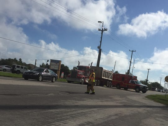 Traffic was shut on on U.S. 1 in Suntree while crews responded to a natural gas leak.