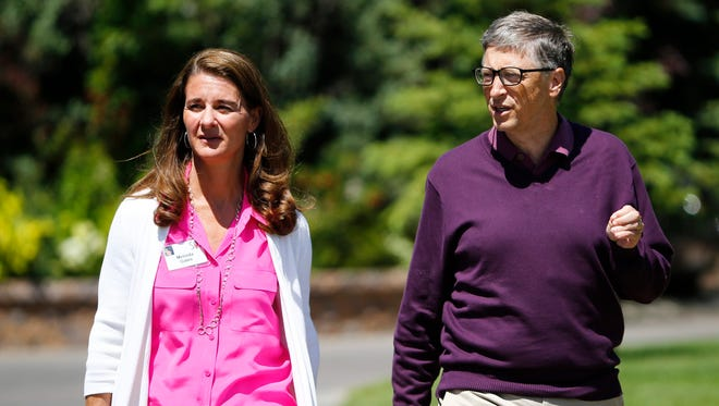 Bill and Melinda Gates of the Bill and Melinda Gates Foundation, at the Allen and Company 32nd Annual Media and Technology Conference, in Sun Valley, Idaho, USA, July 10, 2014.