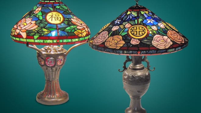 Preston lamps from the Feng Shui line.