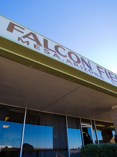 The exterior of Falcon Field Airport in Mesa on January 2, 2013. The northeast Mesa airport is the nation's 5th busiest general-aviation airport.