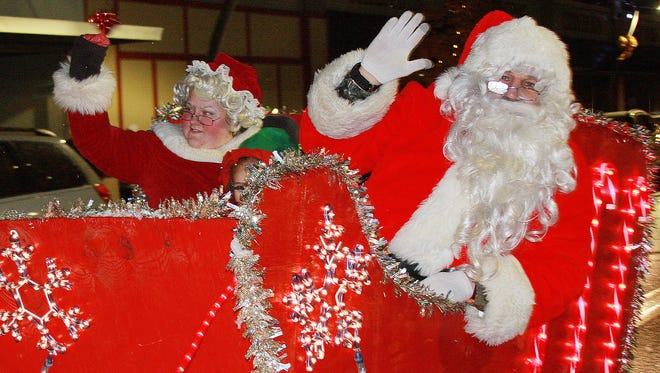 The Battle Creek Christmas Parade ends with Santa making his way through downtown