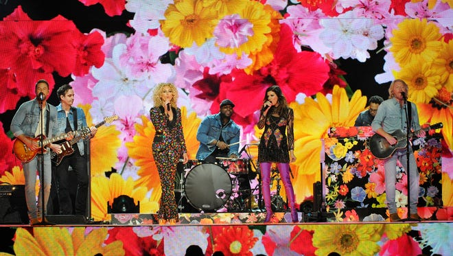 Little Big Town performs during the 52nd Academy of Country Music Awards at T-Mobile Arena on Sunday, April 2, 2017, in Las Vegas, Nev.