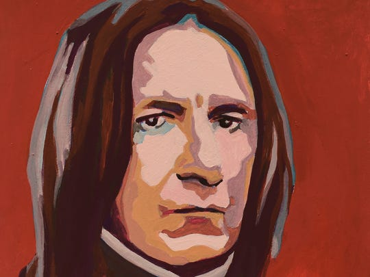 "Springfield-based artist Crystal Moody, painter of this portrait of Professor Severus Snape as he was played by actor Alan Rickman in the ""Harry Potter"" movies, is among more than 40 makers who will be selling art and other objects at the third annual Queen City Craft Show."