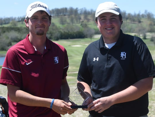 Lyon College's Joshua Lunceford (left) and Freed-Hardeman's