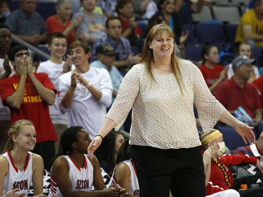 """""""If you start catering to parents' wishes, you can't be objective. Parents can't be objective about their own kid. But the coach can be,"""" said Seton Catholic girls basketball coach Karen Self."""