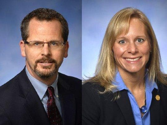 State Reps. Todd Courser and Cindy Gamrat