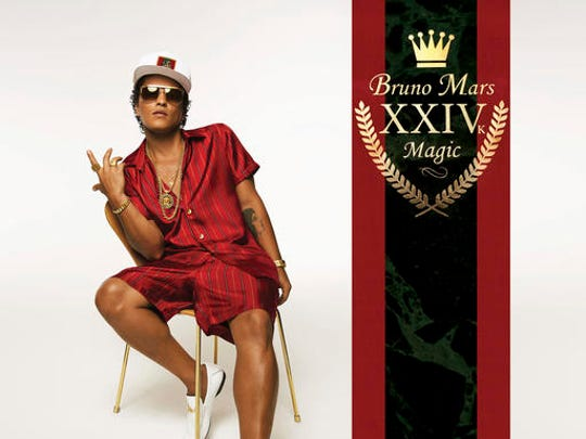 """This cover image released by Atlantic Records shows, """"24K Magic,"""" the latest release by Bruno Mars."""