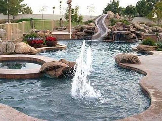 Rock features around pools and patios can attract snakes.