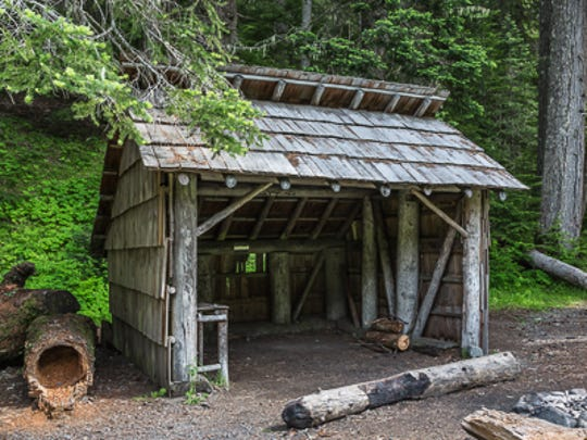Camp Handy Shelter, a rustic place for hikers and backpackers