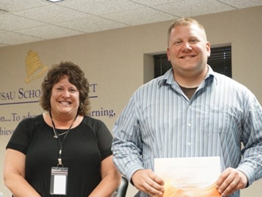 The Wausau School Board honored Nick Polak.