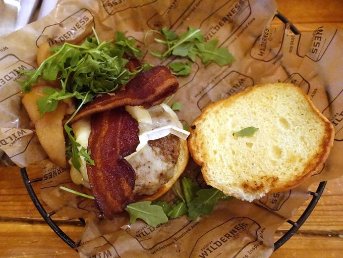 STAND-OUT BURGER:  Apple and Brie Burger   Arizona