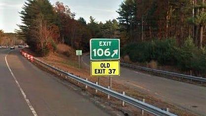 Exit-sign renumbering begins Nov. 15 on Route 3.