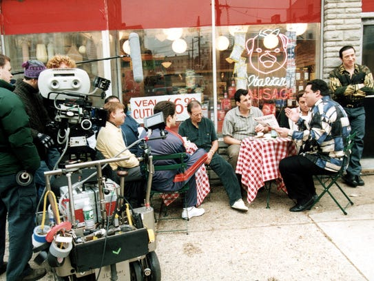 Filming of 'The Sopranos' outside Satriale's Pork Store