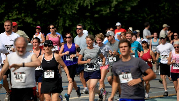 Hundreds of runners came out for the Run for Shindig on the Green 5K and Fun Run/Walk at Carrier Park in Asheville. The fourth annual race to benefit Shindig on the Green is June 27.