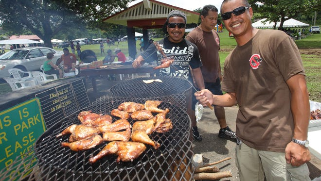 When Guam gets hit hard by a storm and the power goes out, it's a perfect time to throw meat on a hot grill and enjoy a barbecue with friends and family.