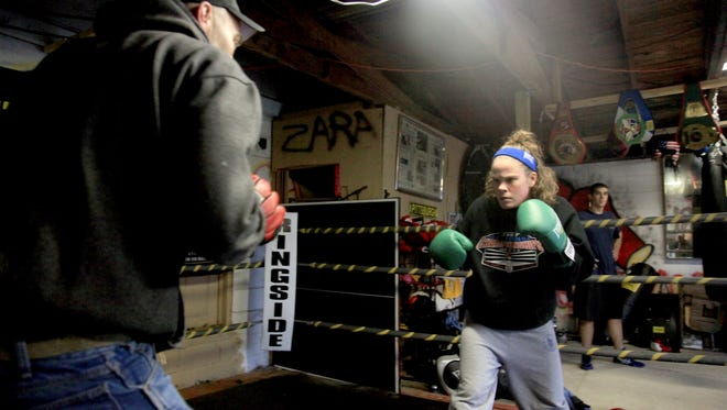 Red Lion boxer Brittany Inkrote trains in 2010. A longtime amateur boxer, Inkrote believes she might be able to finally make her professional boxing debut Jan. 23.