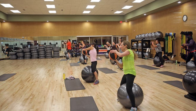 A class at LifeTime Fitness in White Plains.