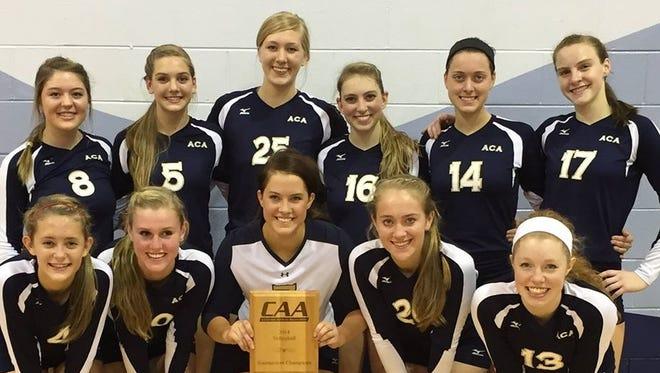 Asheville Christian Academy's volleyball team.