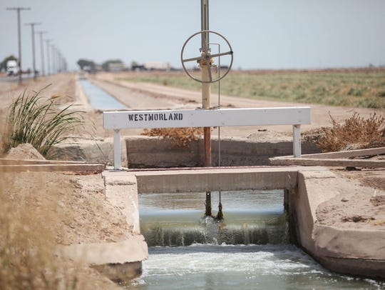 An Imperial Irrigation District canal carries irrigation