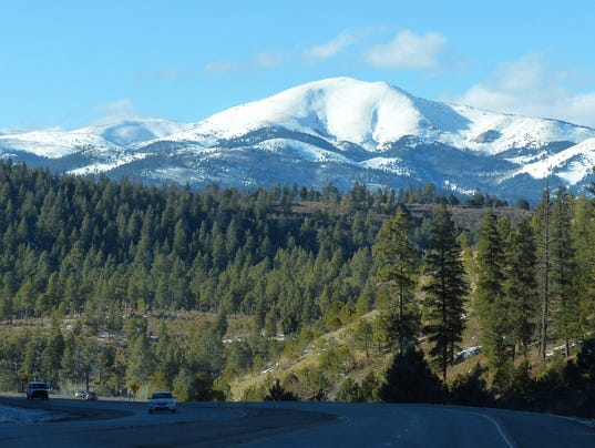 Sierra Blanca covered with snow