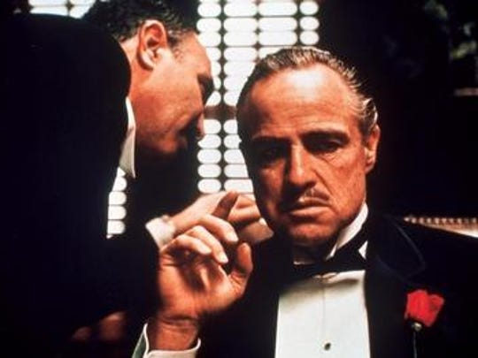 Marlon Brando as Don Vito Corleone in a scene from