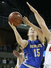 Newport Central Catholic's Kara Zimmerman drives to