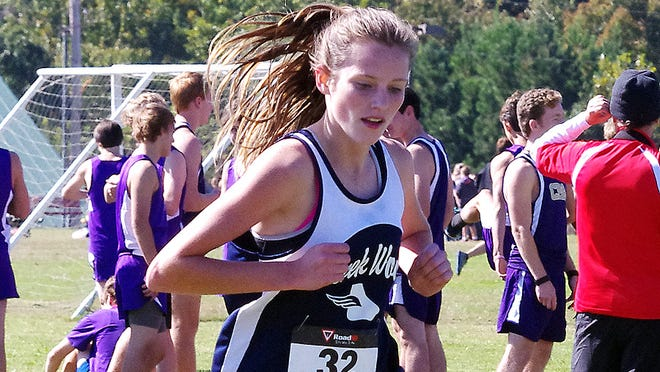 Creek Wood sophomore Caroline Edmondson also qualified for the state cross country championship in the fall, finishing 10th at the region race.