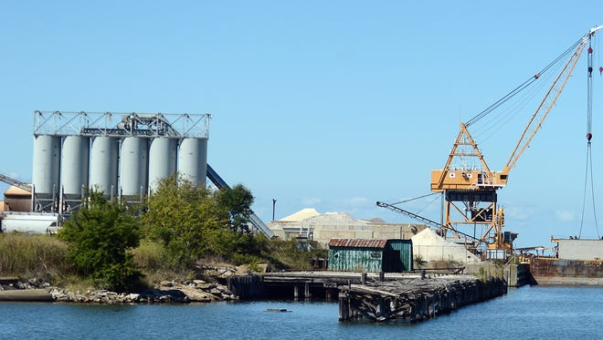 Bayshore Concrete Products Corp. is shown at the Cape Charles harbor.