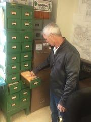 Binghamtom Water Superintendent Joe Yannuzzi checks