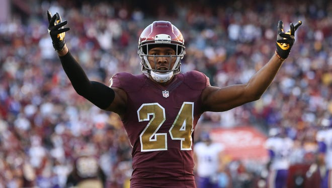 Washington Redskins cornerback Josh Norman has one interception and 43 combined tackles this season.