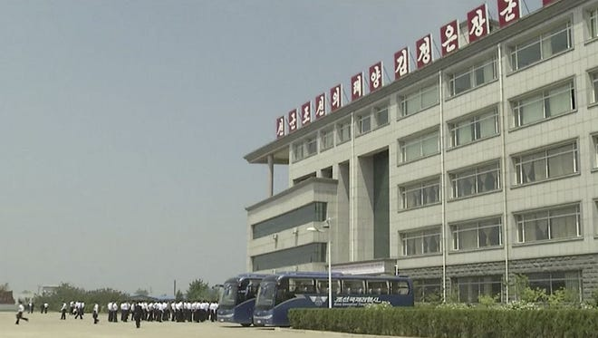 FILE - This image made from May 21, 2014, video shows the Pyongyang University of Science and Technology.