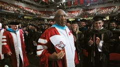 In May 2011, Bill Cosby attended Temple University's